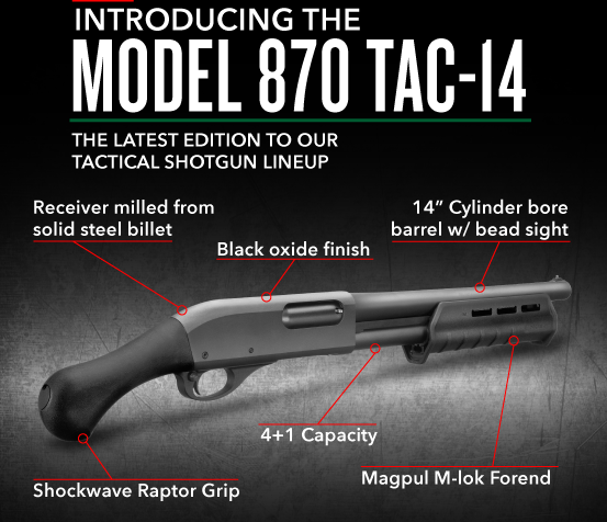 Remington 870 TAC-14 12 Gauge-3 – Feed the Need Missions